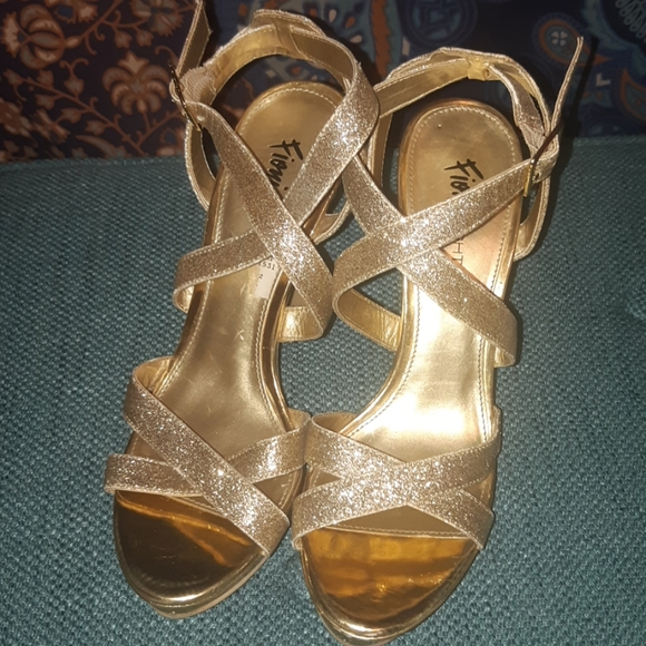 Glitter and Gold Heels